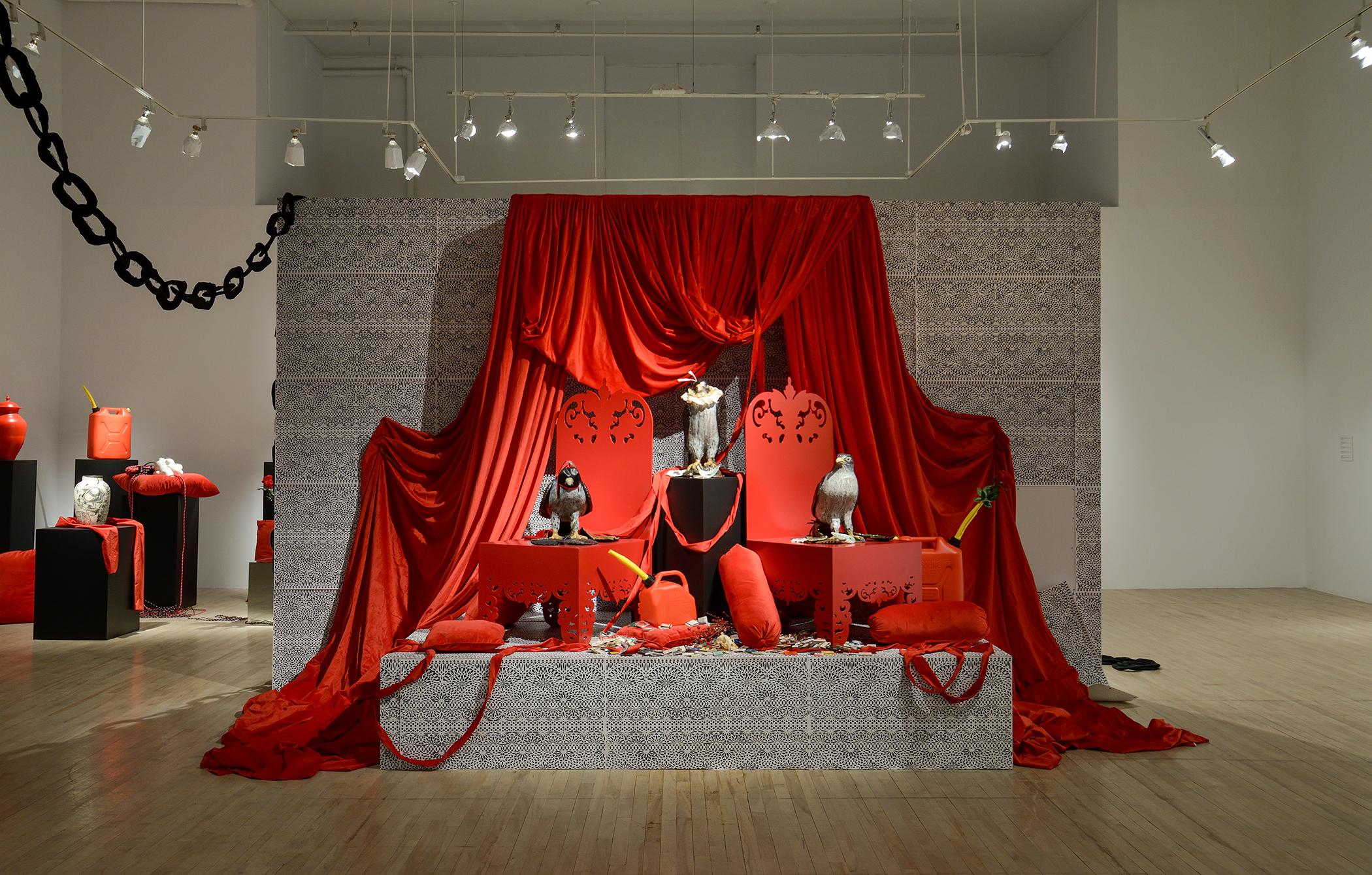 Installation céramiques et mobiliers